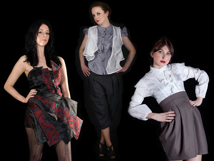 Left to right: Designs by Adam Preece, Amy Davidson and Stacey Lawton.