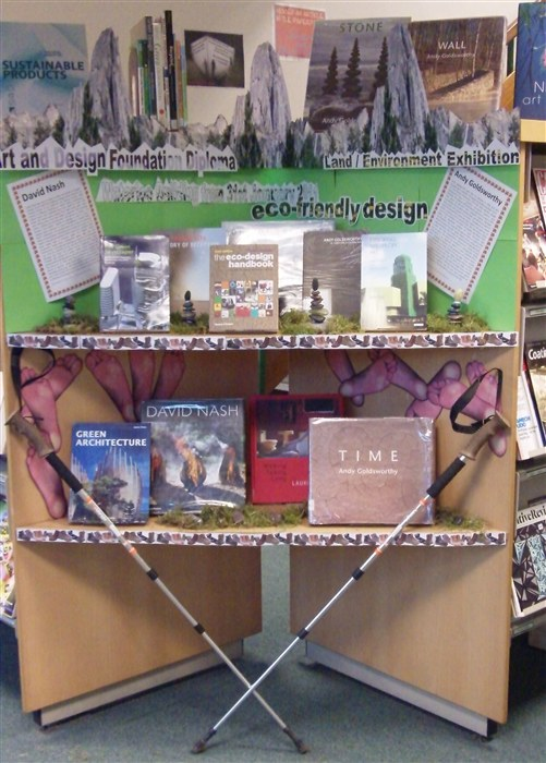 Literature on display in the Library and Learning Centre