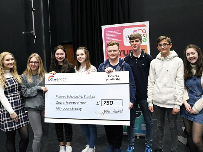 Students received £750 each towards their studies