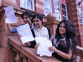 Identical triplets; Elnaz, Golnaz and Tanaz celebrating their A-Level success!