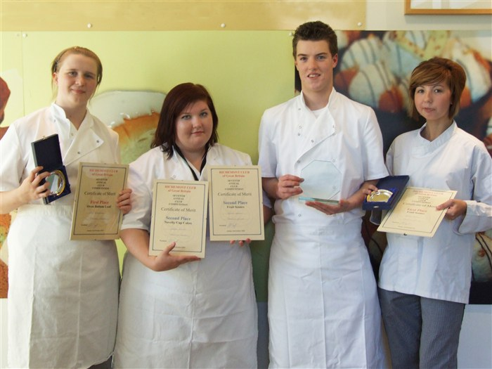 From left to right: Laura Littlejohn, Stella Collins, Oliver Campbell and Hayley Davies.