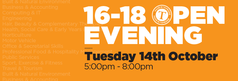 Open Evening Tuesday 14th Oct 2014