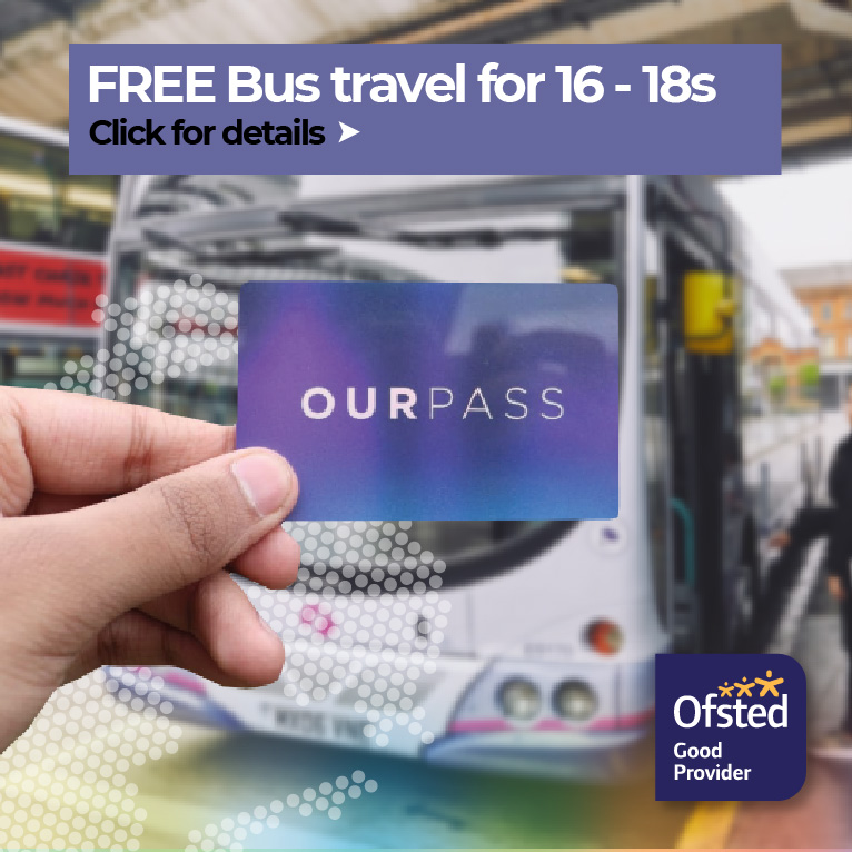Click for details of Free Bus Travel for 16-18s