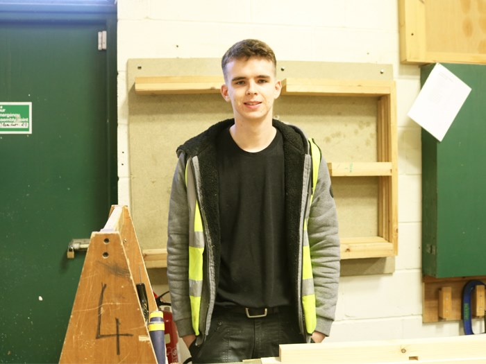 Brandon will complete apprenticeship with Reddish Joinery