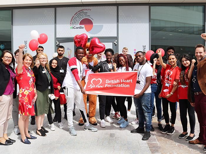 Business bake off turns college red for heart foundation