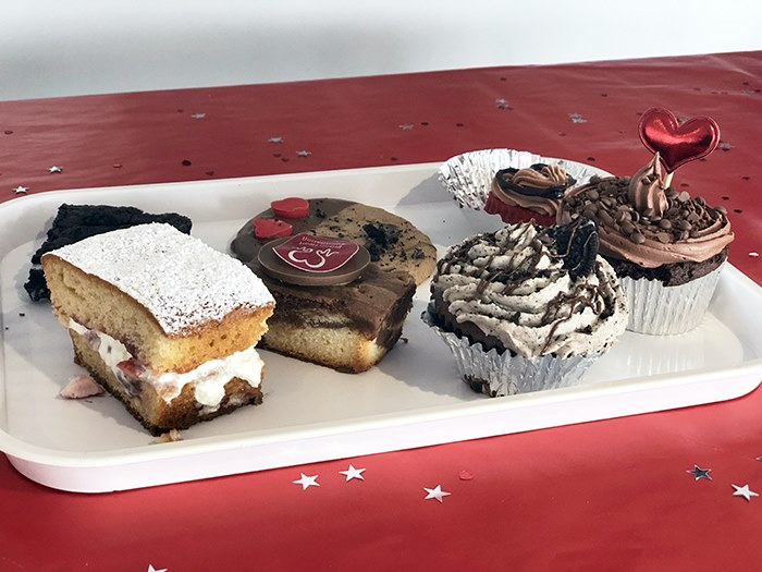 Cakes that students produced for the competition