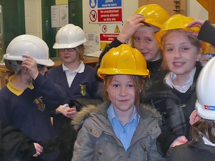 Pupils from Canon Johnson in Construction