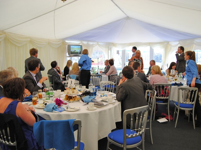 Busy chalet at the Chester races