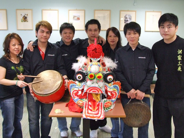 Linda Lee and her staff in the Bistro