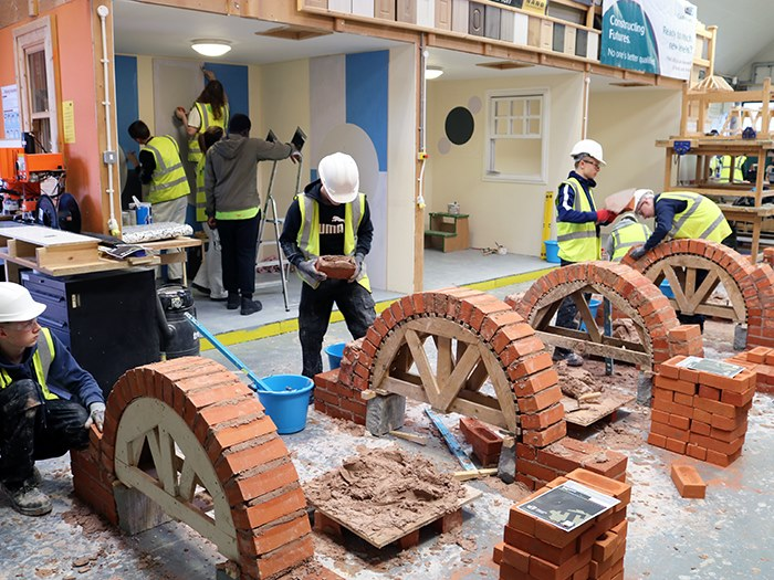 Students taking part in the skills show