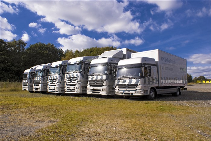 Mercedes-Benz trucks used for Driver CPC Training