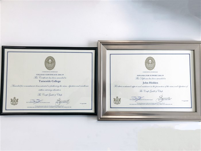 The college received two certificates