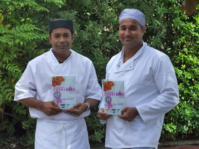 First place for the best restaurant and best take away were the Aashiana and Chat Massala