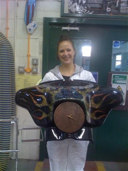 Darley holding her fairing paintwork