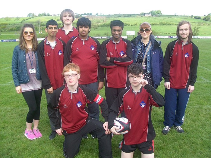 Dovestones students ready for Tag Rugby.