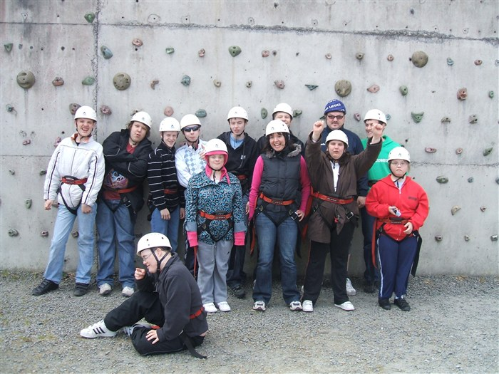 The group having a fantastic time at Red Ridge