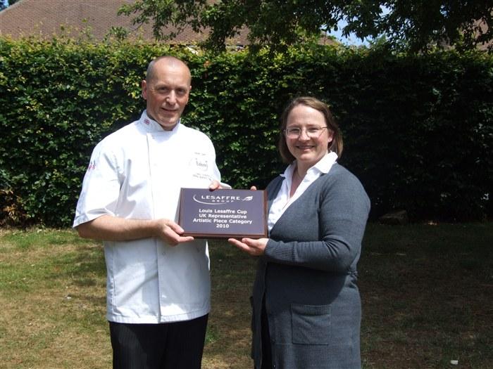 Bakery tutor, Steve Salt receiving the Louis Lesaffre Cup.