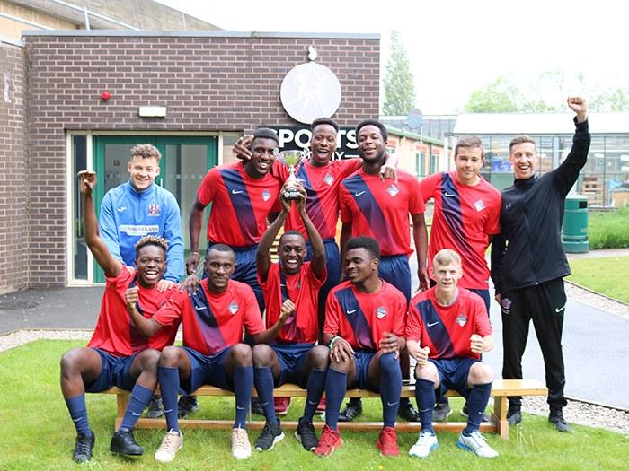 The team alongside manager Luke Podmore