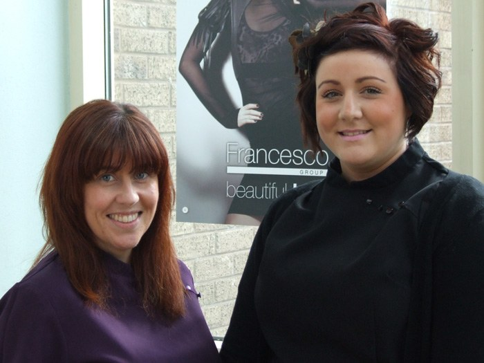 Tutor Michelle Pedley (Left) with Emily Kay (Right)