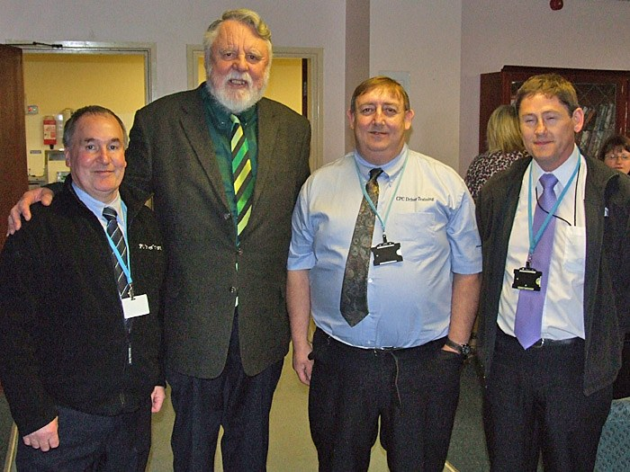 Brian Saxon, Terry Waite, Peter Harrison and Peter Knapper
