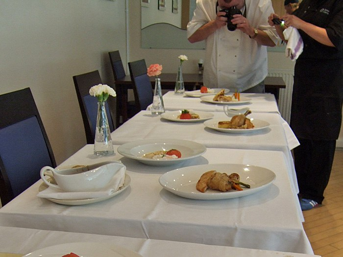 The competing dishes.