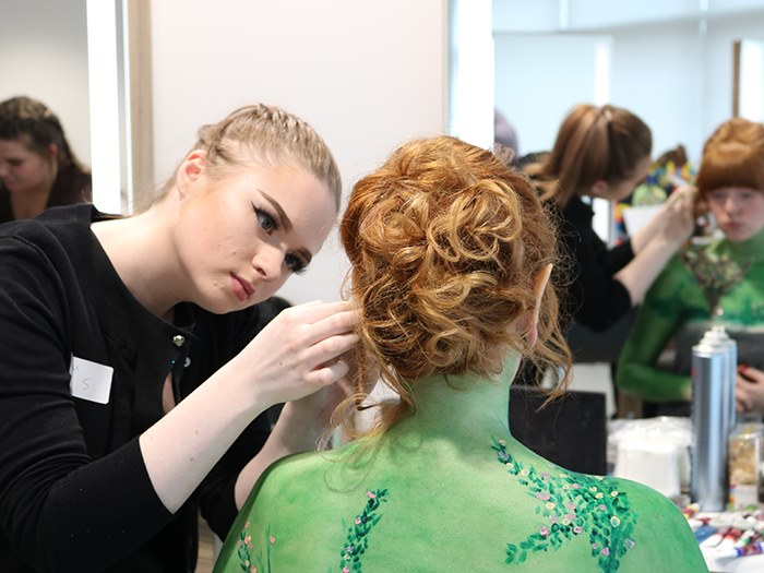 The hair and beauty competition at Tameside One
