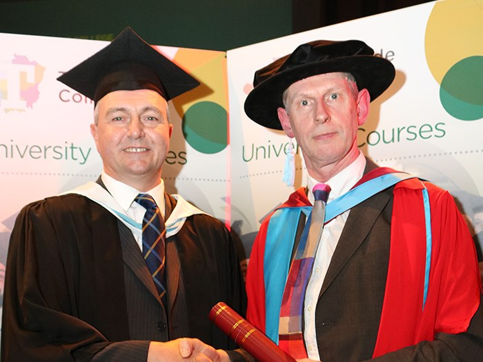 Graduates were congratulated by Dr Powell