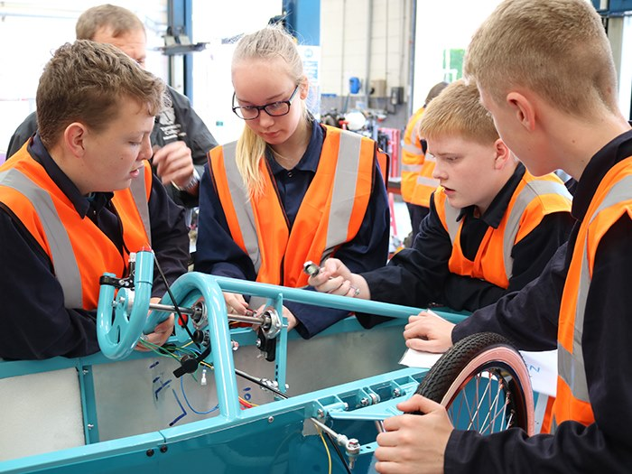Droylsden Academy students construct their car