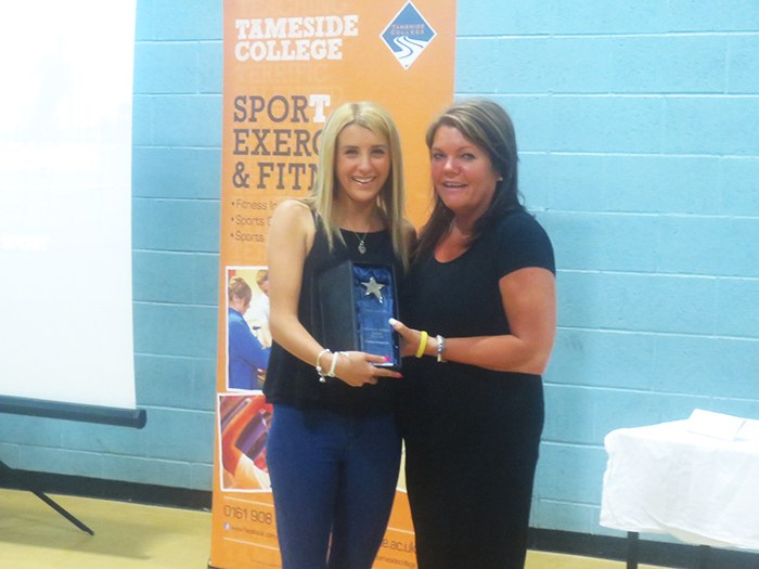 Sports student, Hayley with Alison Williams.