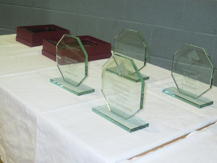 Tophies for the annual awards.