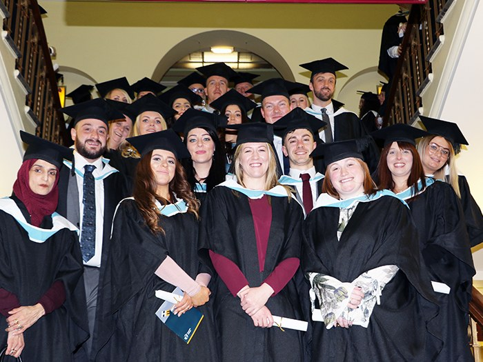 Graduates at the ceremony in Dukinfield Town Hall