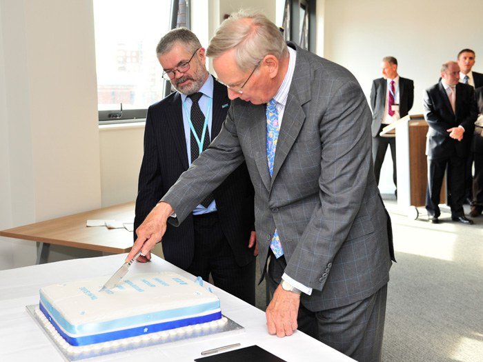 HRH cutting the cake during the opening of the TCFE.
