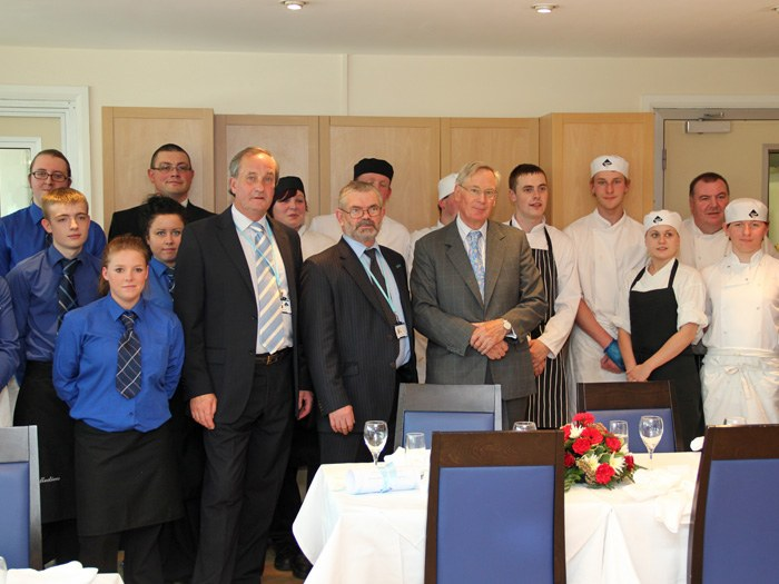 HRH visits the Catering department