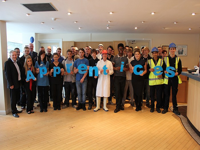 Apprentices from the Tameside 100 scheme