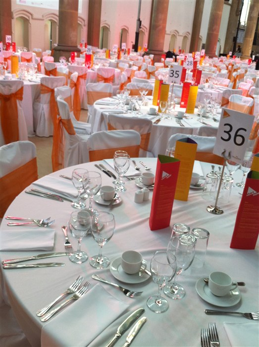 The dining area used during the event.