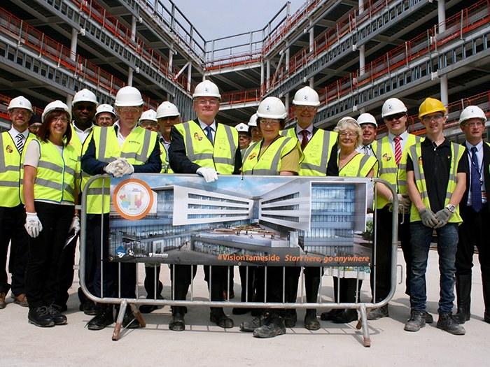 Town centre campus reaches top milestone