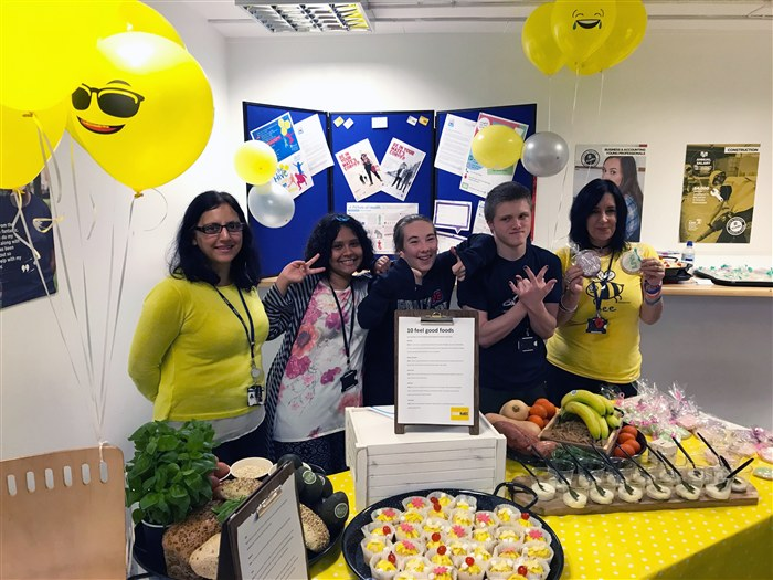 Staff and students helping to raise awareness