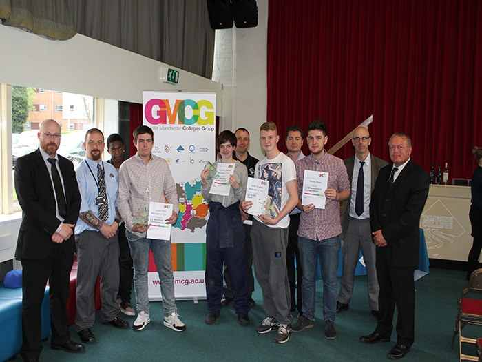 GMCG competition winners from Tameside College