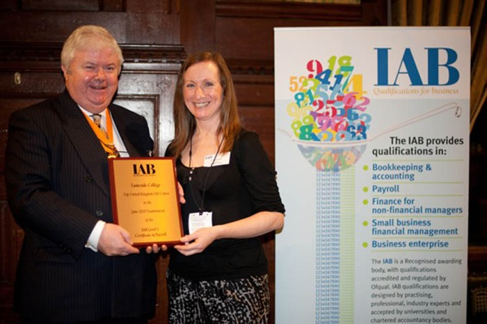 Janice collecting Top UK Centre Award at the House of Commons