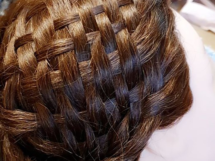 A basket weave style