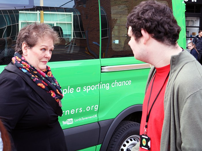 Students were delighted to meet Anne