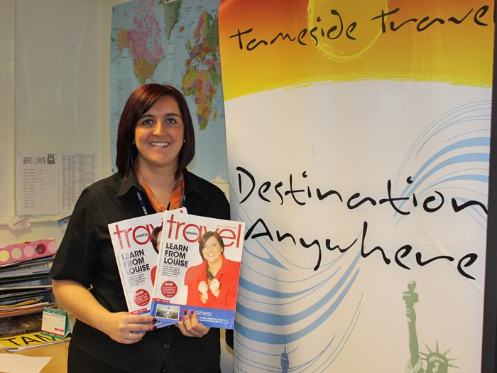 Louise Bates in the Travel Shop