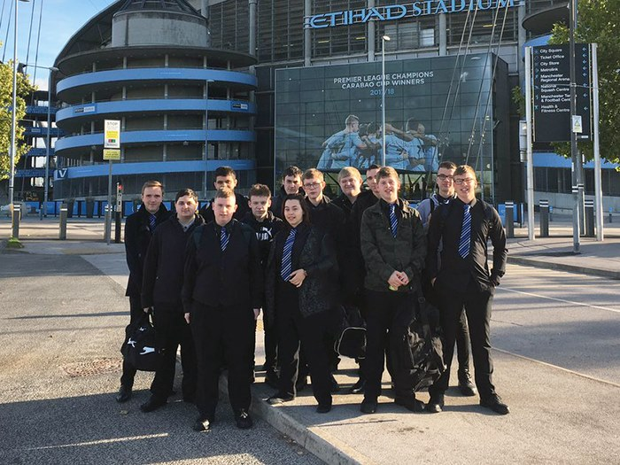 Students score top work experience at Manchester City