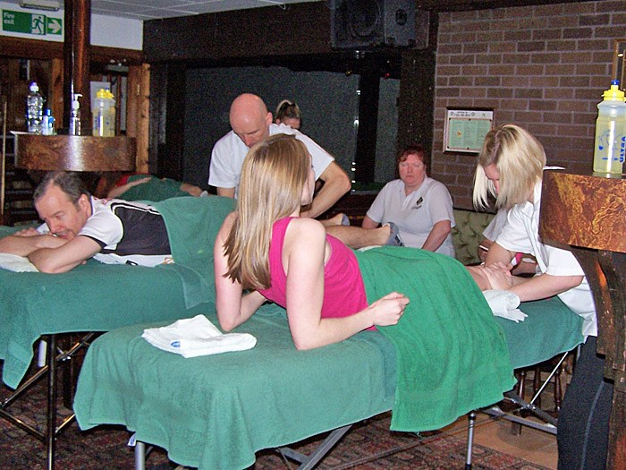 Sports massages being carried out to raise money for Douglas Macmillan