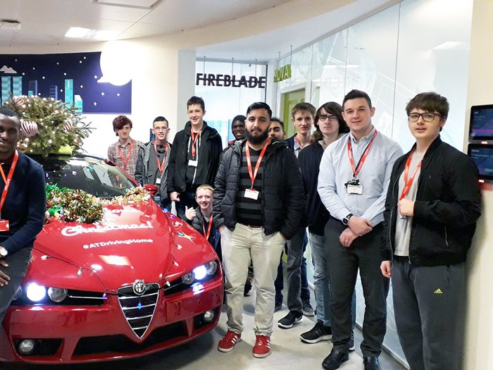 Visiting AutoTrader as part of the programme
