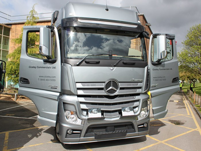The award winning Mercedes Benz Actros