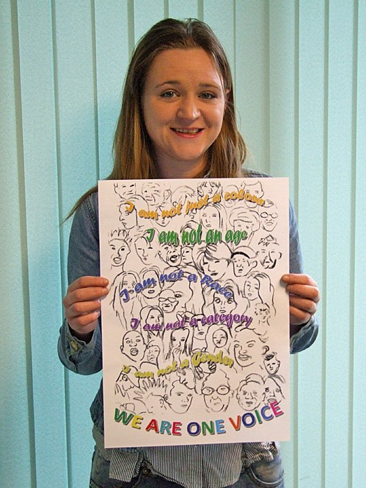 Michelle Ingram with her Equality and Diversity poster