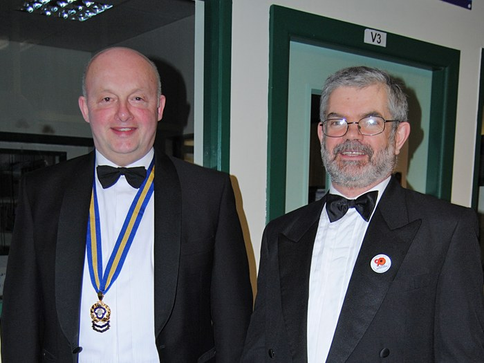 Lord Lieutenant Warren Smith with Principal Peter Ryder