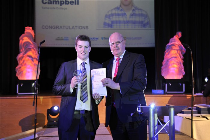 Oliver Campbell receiving the Special Award for National Recognition / Achievement.