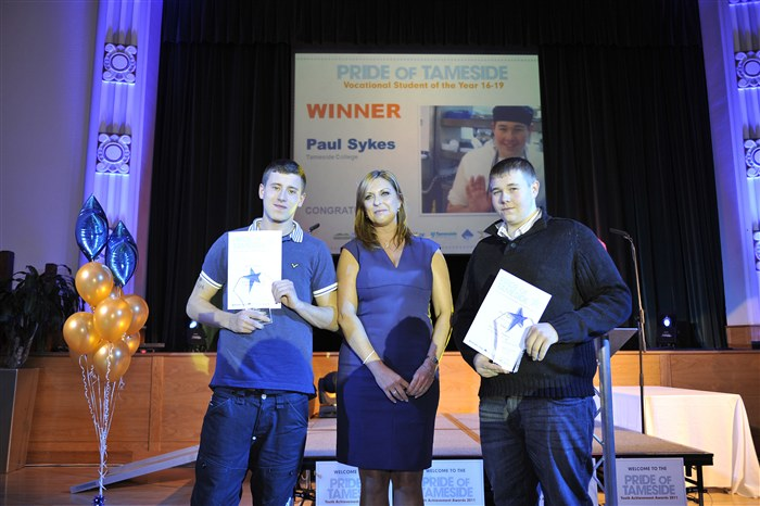 Ben James & Paul Sykes receiving the Vocational Student of the Year 16-19 Award.